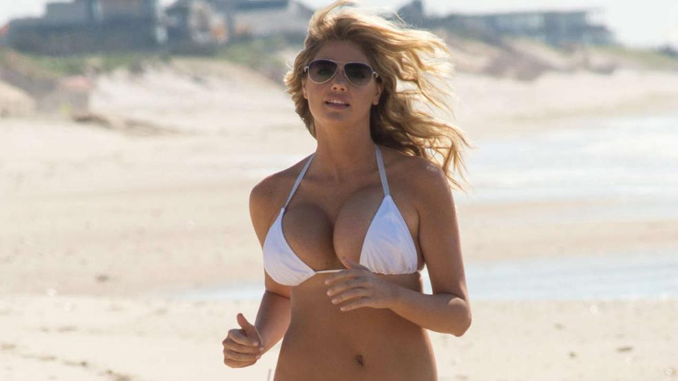 Thankfully, it just so happens to involve Kate Upton without a shirt ...